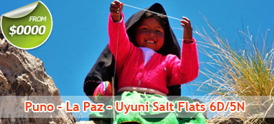 Puno - La Paz - Uyuni Salt Flats 6D/5N